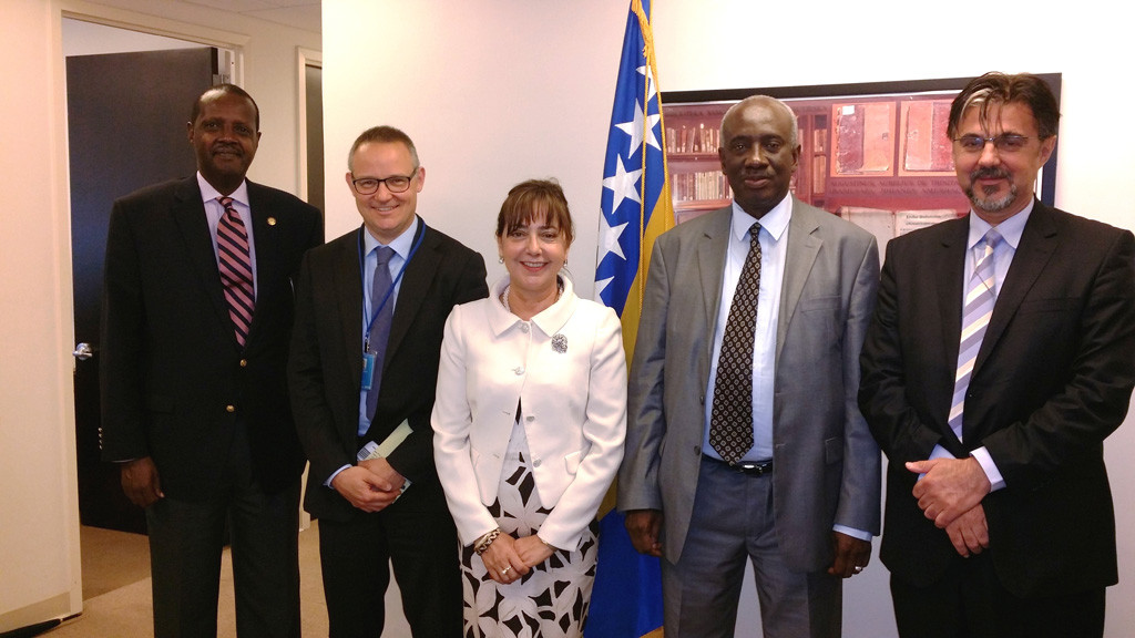 Ambassador Mirsada Čolaković, Permanent Representative of Bosnia and Herzegovina to the United Nations met with the Prosecutor for the Mechanism for International Criminal Tribunals for former Yugoslavia and Rwanda, Hassanom Bubcarom Jallowon