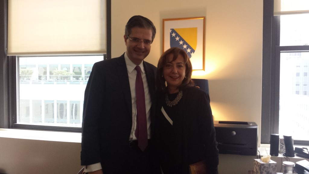 Ambassador Mirsada Čolaković, Permanent Representative of Bosnia and Herzegovina to the United Nations met with Ambassador François Delattre, Permanent Representative of France to the United Nations, on 1. December 2014. at the Permanent Mission of Bosnia and Herzegovina to the UN in New York.